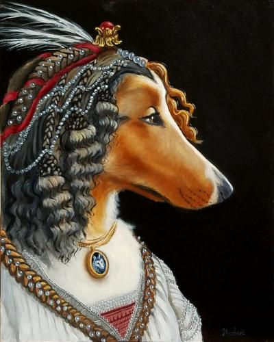 Miranda as a Botticelli Collie